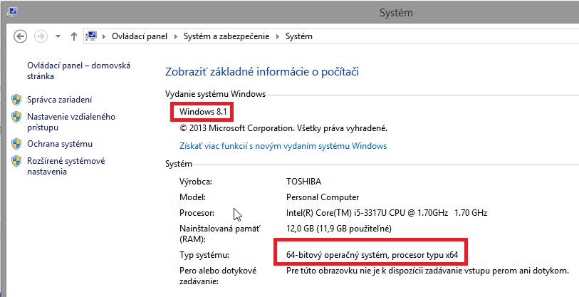 Vlastnosti operačného systému
